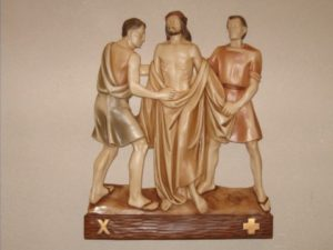 10th Station: Jesus clothes are taken away