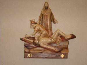 11th Station: Jesus is nailed to the cross
