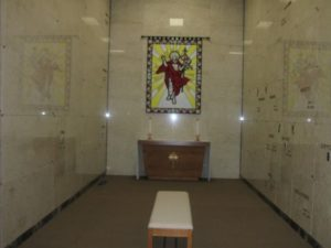 Risen Christ tapestry and altar (All Saints)